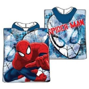 Spiderman Mini Poncho Towel Blue